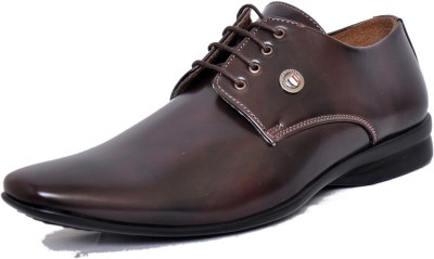 West Code Men's Synthetic Leather Formal Casual Shoes D-73-Brown-6 Casuals Brown