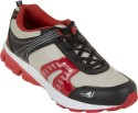 Zovi Grey And Black Sports With Red Accents Running Shoes