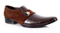 King Step Brown Stylish Formal Slip On