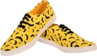 Invezo Impression Printed Yellow Batman Canvas Shoes Yellow, Black