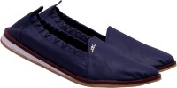 Royal Collection Rubber Clousre Blue Loafers