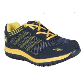 Oxland Navy Blue And Yellow Running Shoes