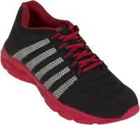 Zovi Black And Red Sports With Silver Accents Running Shoes