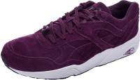 Puma R698 Allover Suede Mid Ankle Sneaker Black, Purple, White