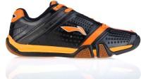 Li-Ning Hero No. 1 Badminton Shoes, Tennis Shoes Black, Orange, Grey