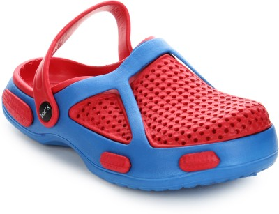 Arre Baba Crocks Red Blue Clogs