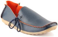 APF Blue Loafer Side Laces Loafers