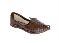 Panahi Coffee 100% Genuine Leather Rajasthani Slip On Mojaris Casuals