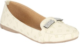 Zachho Cool and Trendy HC230-Cream Loafers