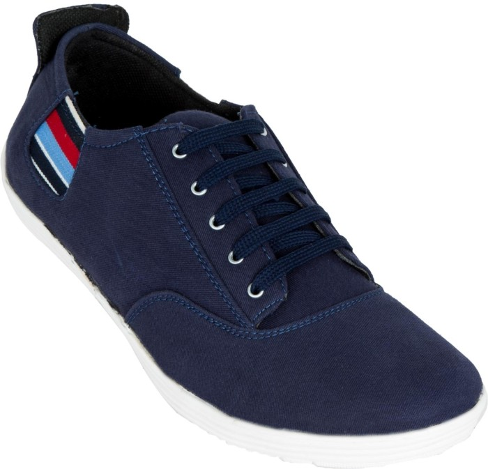 Zovi Blue With Colourful Quarter Sneakers