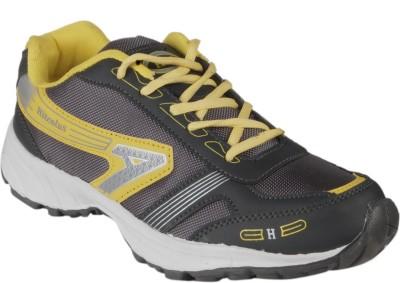 Hitcolus Grey & Yellow Running Shoes