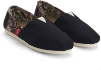 Urban Monkey Black Print Slip-ons Casual Shoes