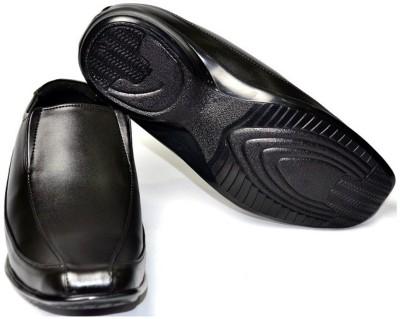 Senso Vegetarian Mens Black Formal Slip On Shoes