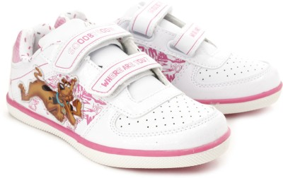 scooby doo casual shoes  buy white pink color scooby doo