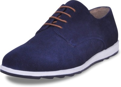 Harper Woods Navy Suede lace up Casual Shoes