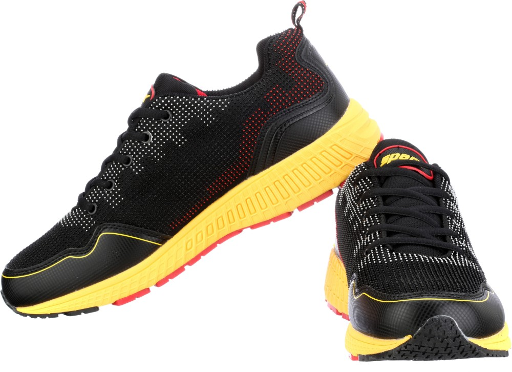 Sparx Running Shoes Black Yellow