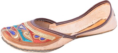 DFR Traditional Rajasthani Jutti In Blue-Red Colour Jutis