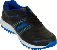 Zovi Black And Blue Sports With Green Accents Running Shoes