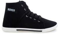 Chevit Mens Black Canvas Sneakers Black, White