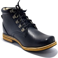 TheWhoop Stylish Black Leather Boots Boots Black