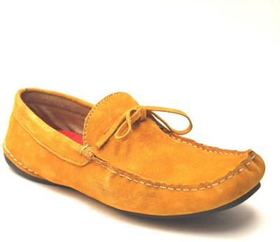 Mustard Guava Mustard Leather Loafers (Yellow)