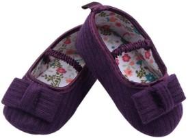 Pikaboo Woven cotton smart prewalkers- Purple(2-6 Months) Casuals