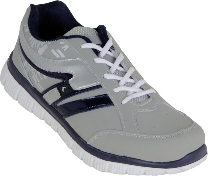 Zovi Grey Sports With Black And Silver Accents Running Shoes