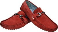 Hirel's Red Driving Mocassion Loafers