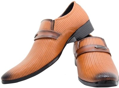 Brutsch Tan Slip On Shoes