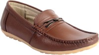 Woodbury Brown Leather Loafers Brown