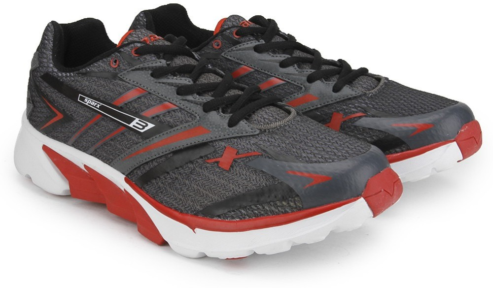 Sparx Men Running Shoes Grey Red