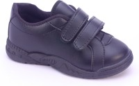 Titas Boy's Black Slip On School Shoes