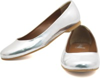 Rhythm & Shoes Tia Metallic Silver Ballerinas Bellies
