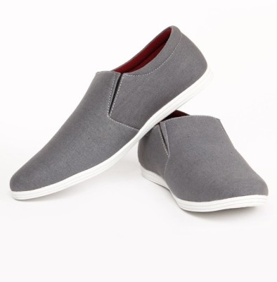 buy zapatoz grey canvas loafers on flipkart paisawapas