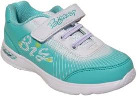 Zebra Green Girls Walking Shoes