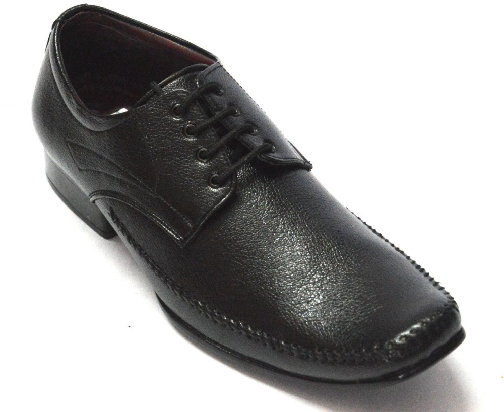 Blk Leather Lace Up Shoes