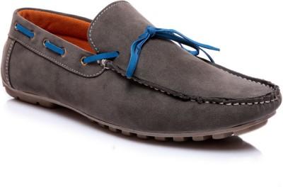 Juandavid 0055-Grey Boat Shoes