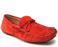 Guava Red Leather Loafers