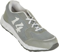 Zovi Grey And White Sports With Numericals Running Shoes