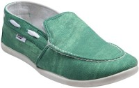 F22 F-22-02-1 Green Slip-on Casual Shoes