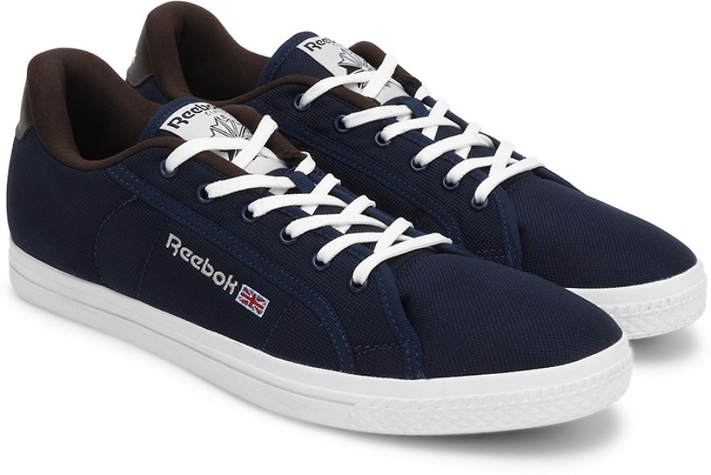 Reebok REEBOK COURT Men Canvas Shoes Brown Navy