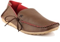 APF Brown Laofer Side Laces Loafers