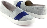 Devee B1986 Front Strap Grey - Navy Canvas Shoes