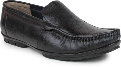 Shumael Black Leather Loafers