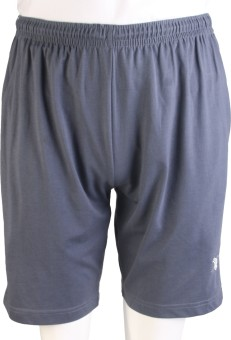 Proxim Grey Grace Solid Men's Sports Shorts