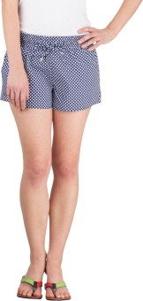 Hypernation Super 123 Polka Print Women's Basic Shorts
