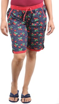 Ckl Paisley, Printed Women's Bermuda Shorts