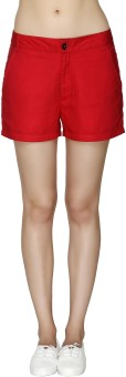 20Dresses The Secret Of Coral Solid Women's Basic Shorts