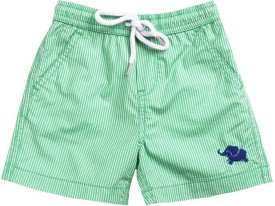 Wowmom Striped Boy's Green Bermuda Shorts