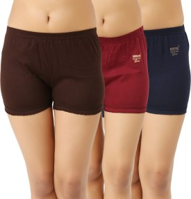 ESSDEE Solid Women's Brown, Maroon, Dark Blue Boxer Shorts
